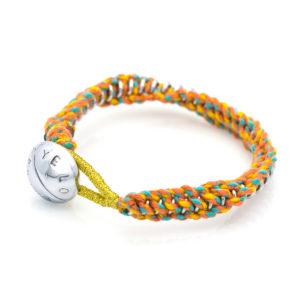 Pulsera Espiral Hippie oro blanco.