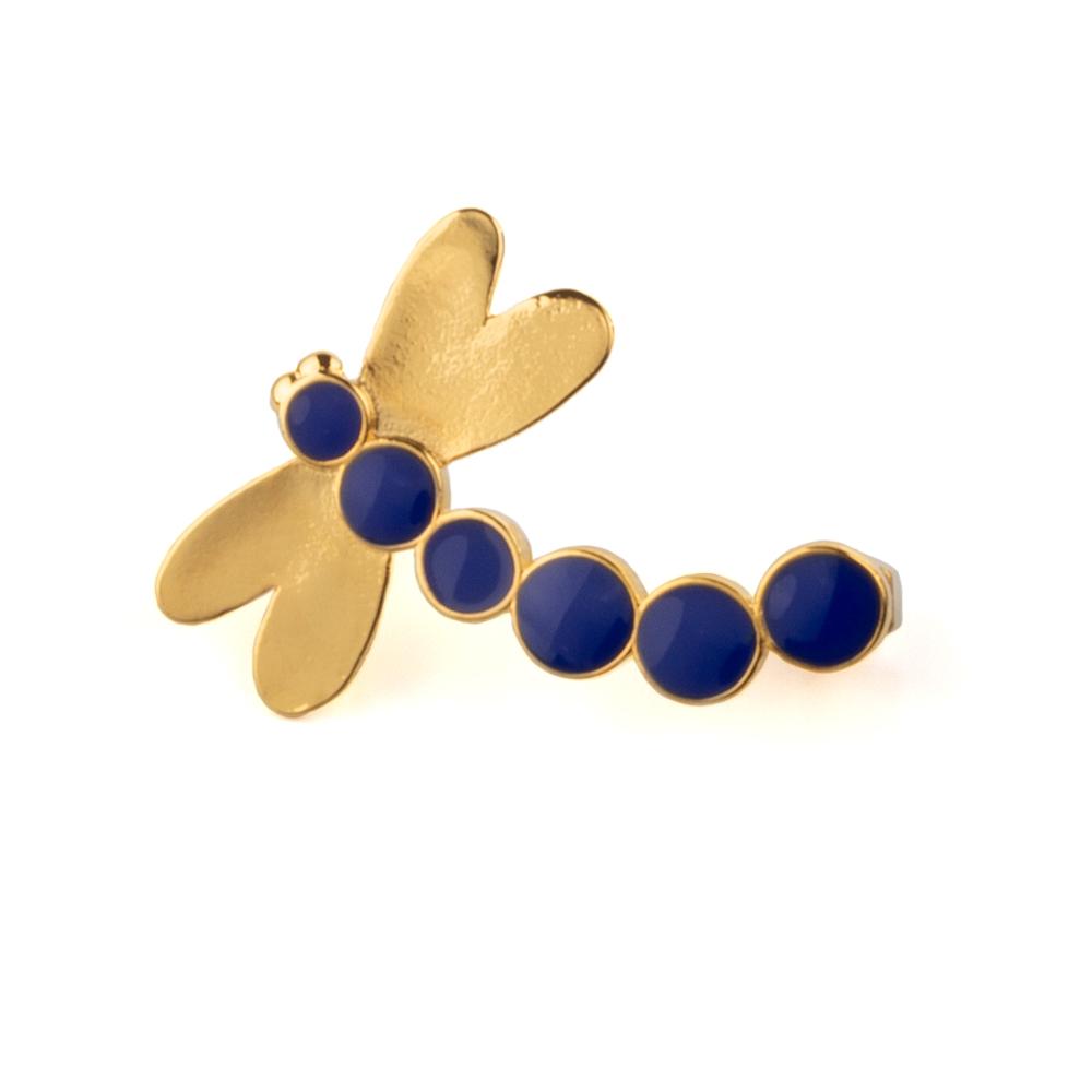 Ear Cuff LibélulaCobalt Blue