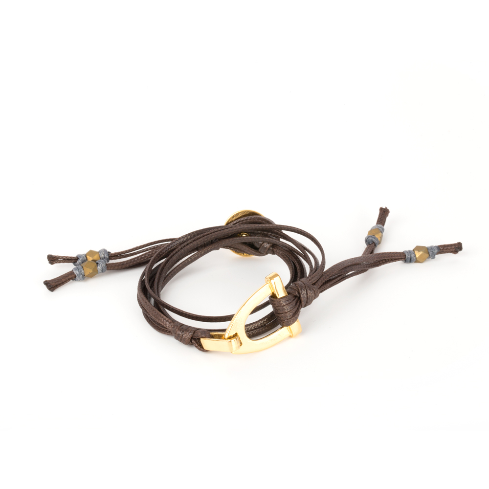 Stirrup BraceletFemale Dark Brown