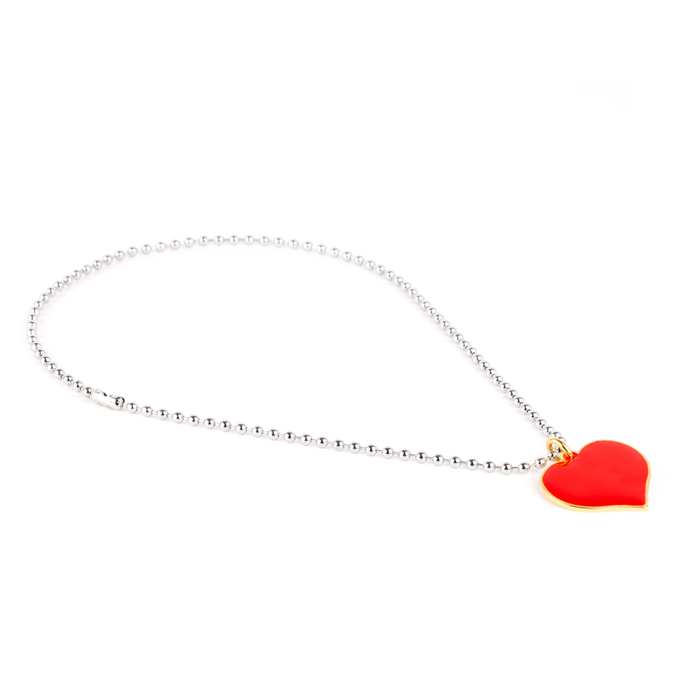 Colorful Love ChokerRed Heart/White Gold