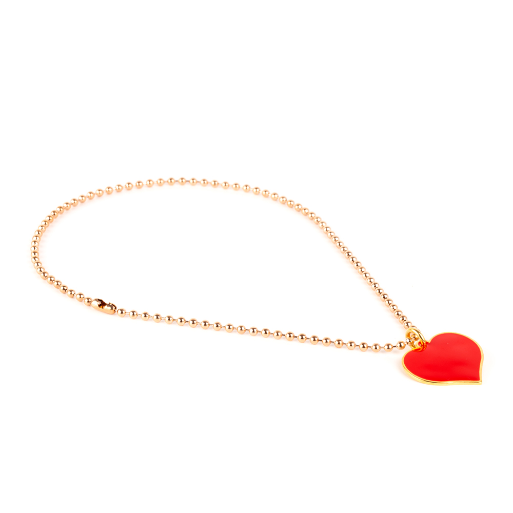 Colorful Love ChokerRed Heart/Pink Gold