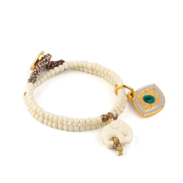 Pulsera doble baquelita Lucky Eye.