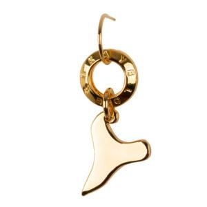 Zarcillo de bronce con baño de oro amarillo 24k.