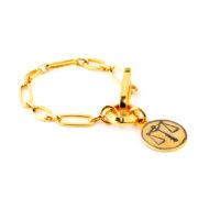 Pulsera Zodiac All Night de bronce bañada en oro amarillo 24k.